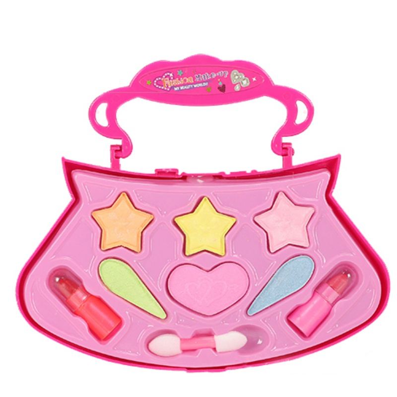 Child Kids Make Up Toy Set Pretend Play Princess Pink Makeup Beauty Safety Non-toxic Kit Toys For Girls Dressing Cosmetic Girls