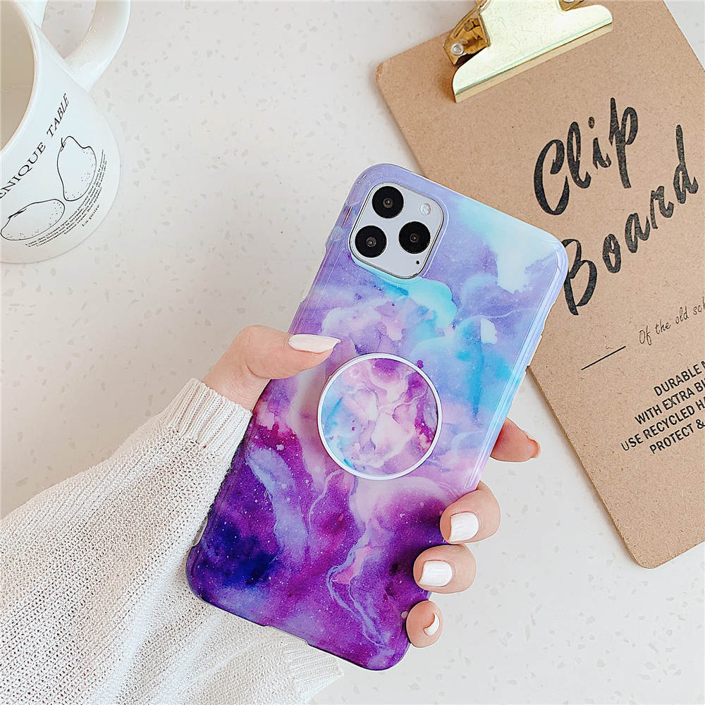 Luxury Marble Stand Phone Back Cover Shell For iPhone 11 Pro X XR XS Max 7 8 6 6S 23