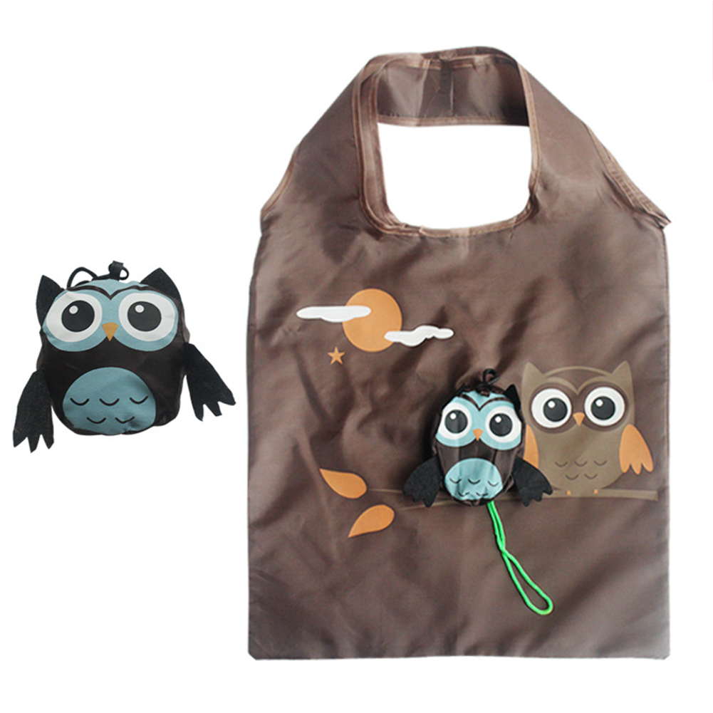 Cute Animal Owl Shape Folding Shopping Bag Eco Friendly Ladies Gift Foldable Reusable Tote Bag Lady Portable Travel Shoulder Bag