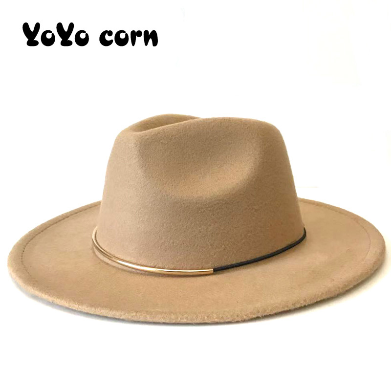 YOYOCORN European American Round Cap Bowler Hats Feminino Gorra Autumn Imitation Woolen Women Men Ladies Fedoras Top Jazz Hat