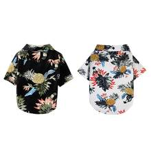 Pet Hawaiian Style Shirt Adorable Dog Blouse Fashion Puppy Clothes Breathable Summer Pet Coat(China)