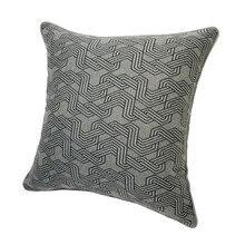 2020 nueva funda de almohada Vintage gris oscuro negro 45x45cm funda de cojín sofá silla de oficina decoración del hogar 1 unidad/lote