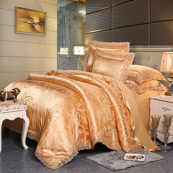 2020 Luxury 2 or 3pcs Bedding Set High Quality Lace Duvet Cover Sets 1 Quilt Cover + 1/2 Pillowcases Twin Full Queen King