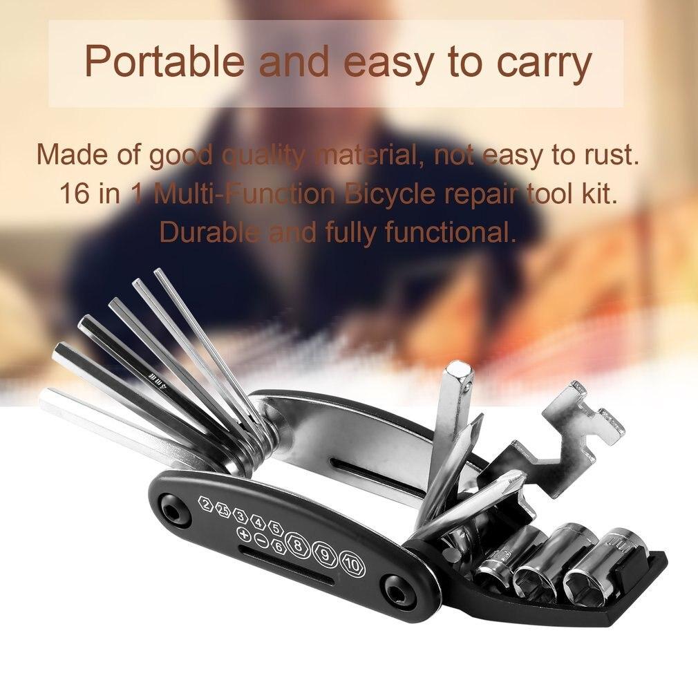 OUTAD универсальный 16 в 1 Набор инструментов для ремонта велосипеда многофункциональные велосипедные стальные инструменты портативные аксессуары для ремонта велосипеда