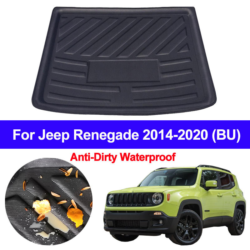 Car Auto Rear Trunk Mat Cargo Luggage Tray Boot Liner Carpet Floor Cape For Jeep Renegade 2014 2015 2016 2017 2018 2019 2020 BU