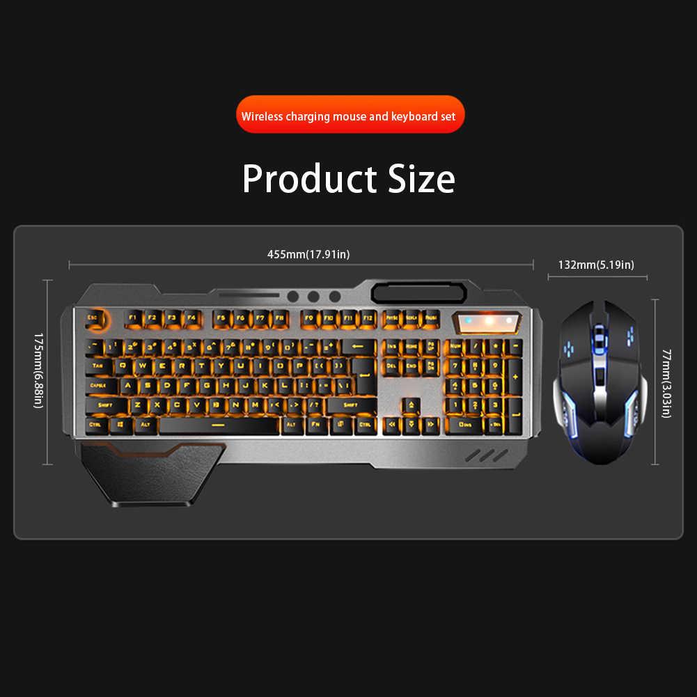 Clavier Rechargeable souris de jeu suspendu Keycap mécanique sensation rétro-éclairé souris clavier de jeu Combo pour Mac ordinateur de bureau