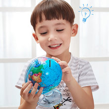 Обучающая игрушка world earth globe для детей копилка монет