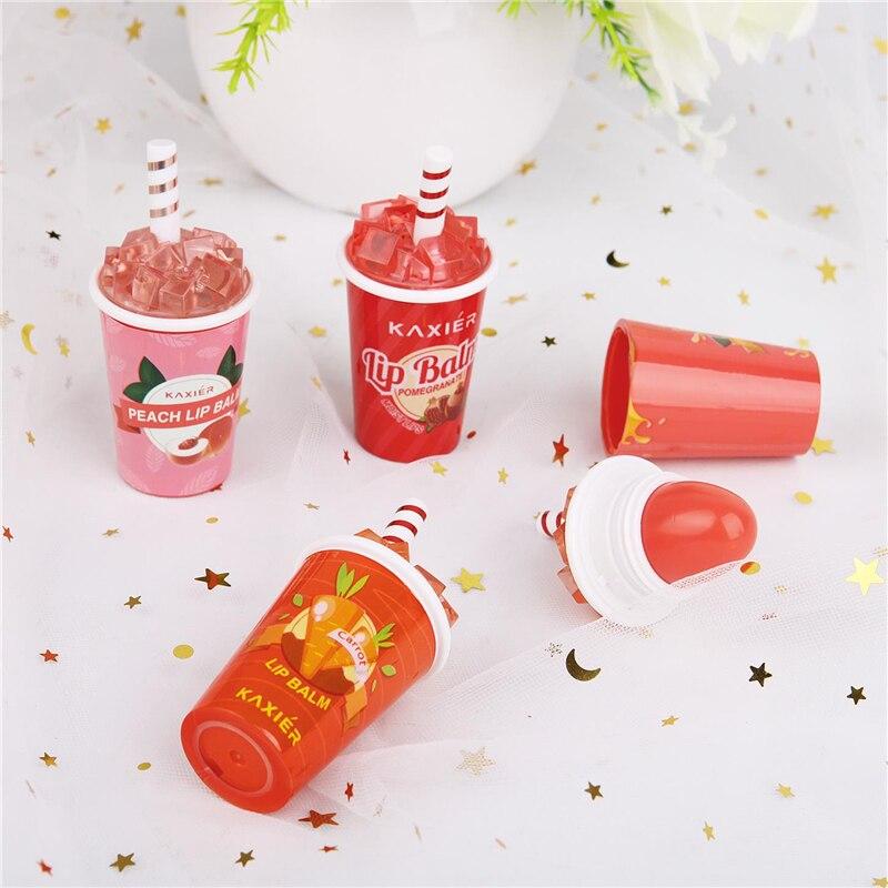 4 цвета, милый зимний бальзам для губ, помада с мороженым, меняющая цвет при температуре, увлажняющая корейская косметика, стойкие помады
