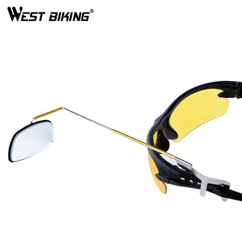 WEST BIKING Bicycle Cycling Rear View Mirror Mount Riding Sunglasses Rearview Mirror Bike Back Mirrors Rear View Eyeglasses