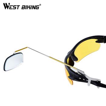 WEST BIKING rowerowa jazda na rowerze mocowanie lusterka wstecznego okulary przeciwsłoneczne do jazdy lusterko wsteczne rowerowe lusterka wsteczne lusterka wsteczne tanie i dobre opinie YP0720011-ZP 0 15kg piece bicycle rearview mirror cycling Mirror bike rear view mirror