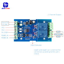 Modbus RTU Relay Module Switch Input & Output RS485/TTL Communication Modbus Controlled Modbus Relay Anti-reverse Protection image