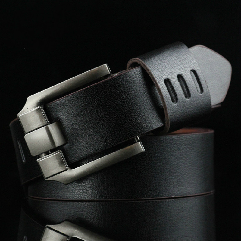 New Men's Belt Male Leather Pin Buckle Belts Men Alloy Buckle Casual Male Vintage Strap Male Leather Luxury Belts 110cm