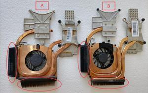 Original laptop heatsink cooling fan For HP DV6 DV7 DV7-2000 2100 DV7-3000 DV6-2000 DV6-2100 CPU heatsink 600868-001 584244-001(China)