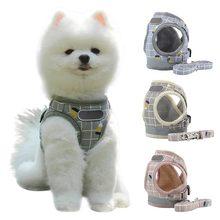 Шлейка и поводок для собак кошек комплект из воздухопроницаемого
