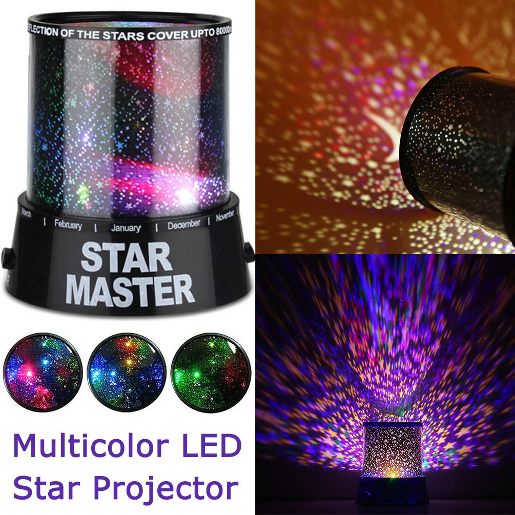 LED Colorful Star Master Sky Starry Night Light LED Projector Night Light LED Lighting Lamp Multicolor LED Star Master D35