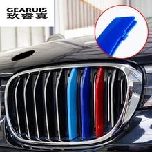 Стайлинг автомобиля для BMW X1 E84 F48, аксессуары, передняя решетка для M Sport, полосы, чехлы для гриля, декоративная рамка, авто наклейки