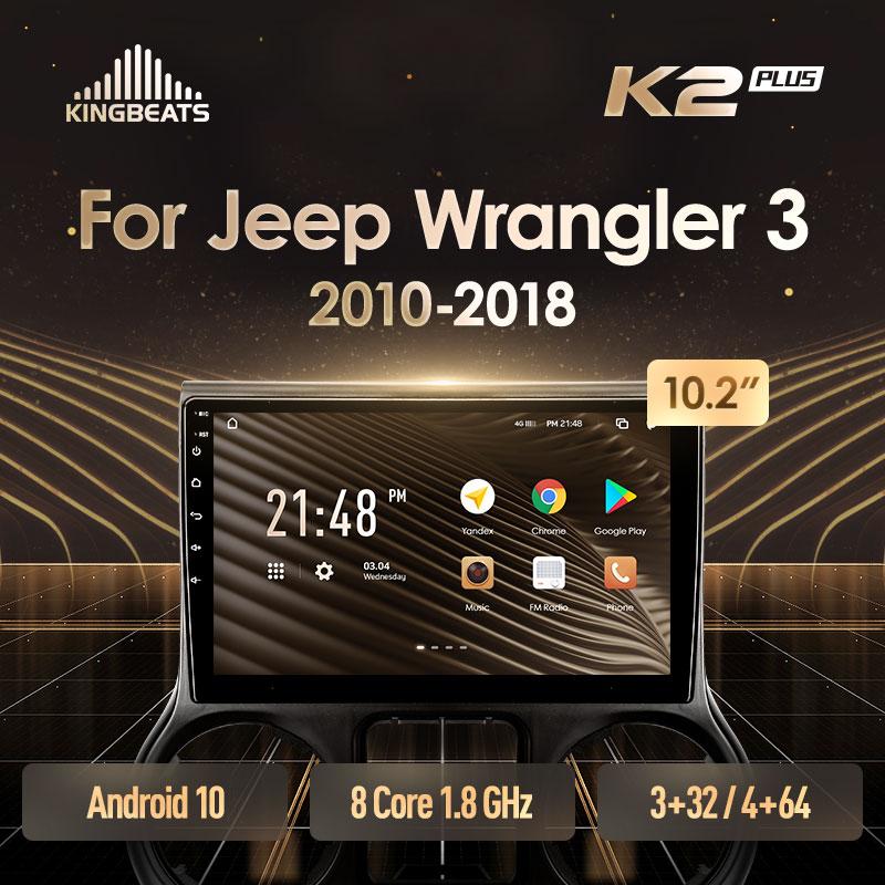 KingBeats штатное головное устройство For Jeep Wrangler 3 JK 2010 - 2018 GPS Android 10 автомагнитола на андроид магнитола For Джип Вранглер 3 For автомобильная мультим...