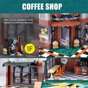 Image 3 - 2059 шт создатель эксперт модульные здания кафе Кофейня с светильник строительные блоки кирпичи игрушки для детей
