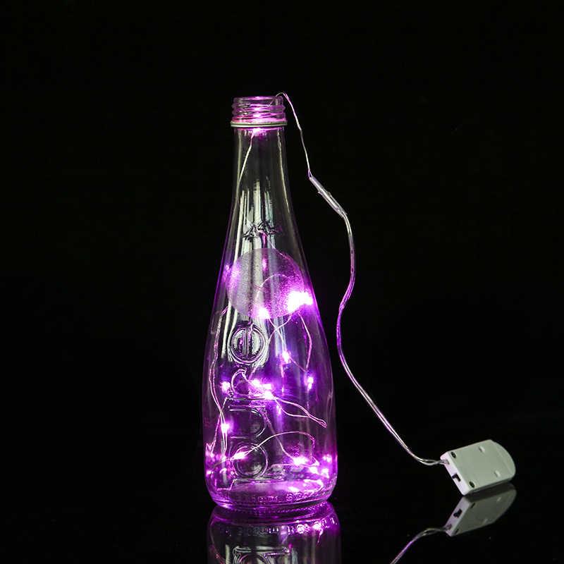 1/2/3/5M 10-50 LED Luci Leggiadramente CR2032 Battery Operated LED Filo di Rame luci della stringa Di Natale Ghirlanda Decorazione Del Partito di Nozze
