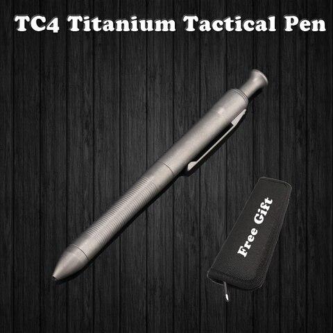 alta qualidade de titanio tc4 tatico caneta auto defesa caneta escrita ao ar livre edc
