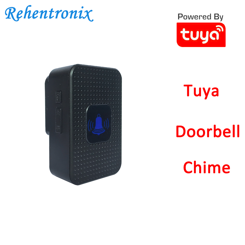 Black Color Tuya Video Doorbell Chime AU US UK EU Compatible With TD6 TD8 Video Doorbell