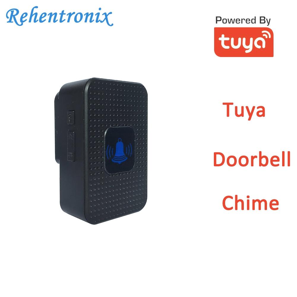 Black Color Tuya Video Doorbell Chime AU US UK EU Compatible With TD6 TD8 Video Doorbell