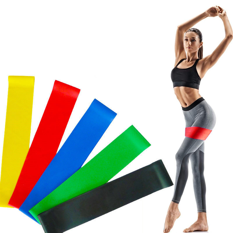 Gym Elastic Yoga Rubber Stretch Resistance Exercise Fitness Band Strap MP