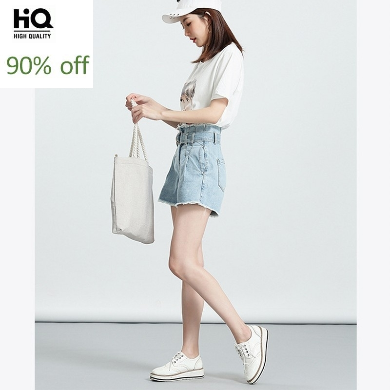2020 New Denim Shorts Women Summer High Waist Slim Tassel Short Jeans White Black Blue Boyfriend Style Casual A-Line Hot Pants