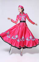 The New Mongolian Costume Ethnic Minority Women's Wear Mongolian Dance Costumes Costume Stage Performance Dress