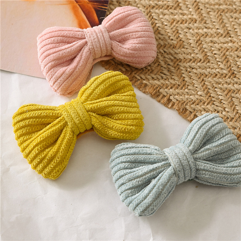 Sweet Children Candy Color Bowknot Hairpin Cute Baby Girl Knotted BB Hair Clip