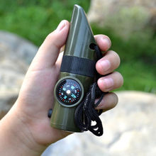 7 in 1 SOS Survival นกหวีด Camping Survival Whistle (China)