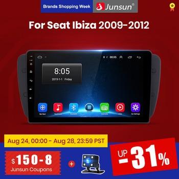 Reproductor de vídeo Multimedia Junsun V1 2G + 32G Android 9,0 para Seat Ibiza 6j 2009-2012 navegación GPS 2 din autorradio SIN dvd