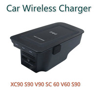 Car Wireless Charger for VOLVO XC90 New XC60 S90 V90 2019 Special Mobile Phone Loading Board V60 Auto Parts