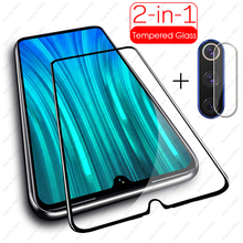 2in1 9H tempered glass for xiaomi redmi note 8 pro 8t protective glass For xiaomi Redmi Note 8 8a A 8T 8pro screen protector
