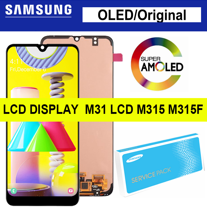 6,4 ''oled/Super AMOLED для Samsung Galaxy M31 ЖК M315 M315F SM-M315F, ЖК-дисплей, сенсорный экран, дигитайзер, для запасных частей