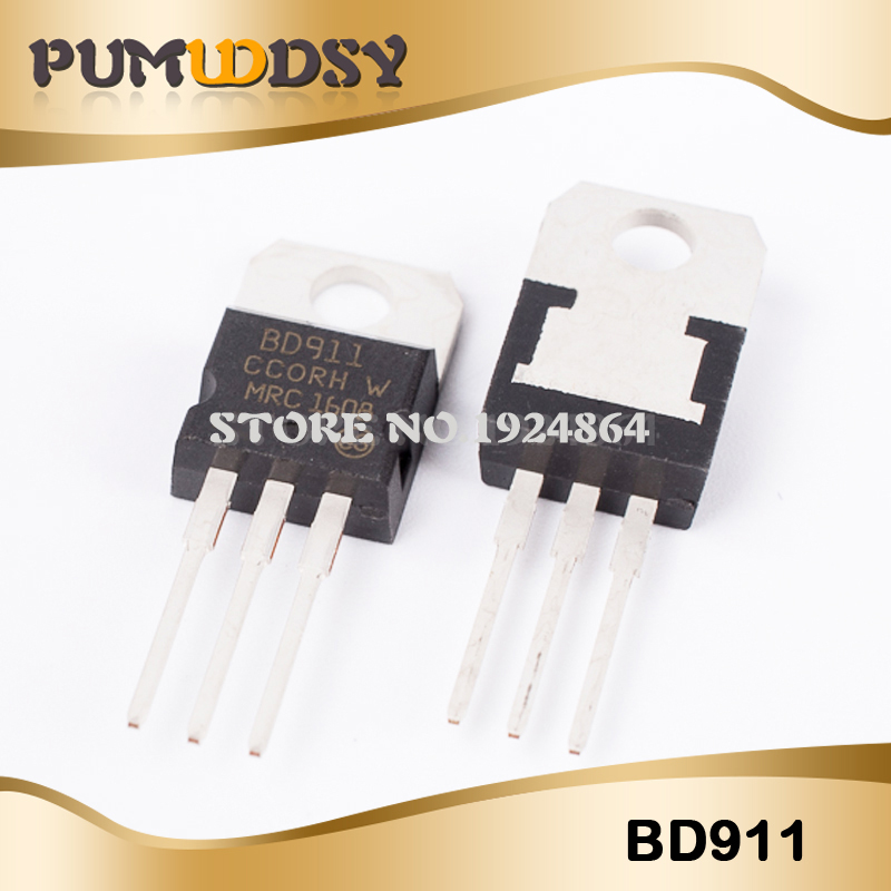 10pcs/lot BD911 BD912 Darlington Transistor (5PCS BD911+5PCS BD912)15A 100V TO-220 Original Authentic IC