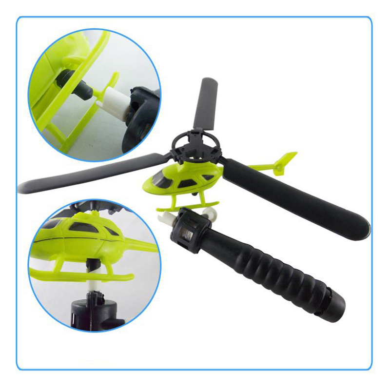 Pull String Helicopter Outdoor Toy 10