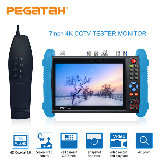 7 inch H.265 8MP IP tester SDI TVI CVI AHD CCTV Camera tester support TDR Optical power HDMI Security camera tester and tracer