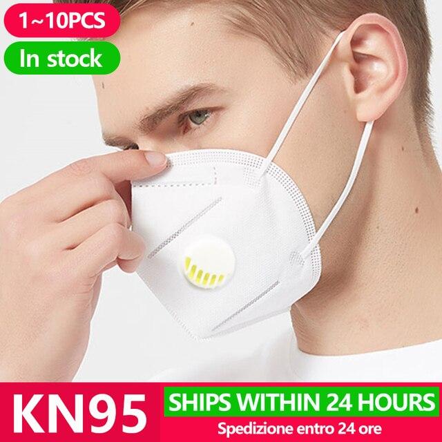 10PCS KN95 Face N95 KF94 Mask Anti Coronavirus Mouth Cover Facial Dust Pm2.5 Ffp3 Fpp2 Respirator Face gas Masks mascarilla viru 1