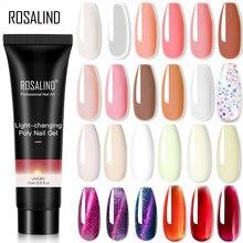 ROSALIND – vernis à ongles en Poly Gel UV de couleur Pure, 15ml, vernis hybride à paillettes pour Nail Art