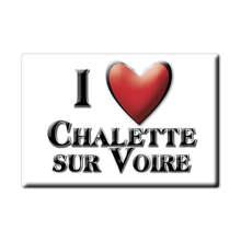Aimant CHALETTE SUR VOIRE aimant plat NORMANDIE (10) France aimant frigo SOUVENIR j'aime cadeau