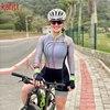 Cafete novo terno de ciclismo triathlon profissional das mulheres corrida equipe jérsei macacão manga longa apertado ciclismo terno 12