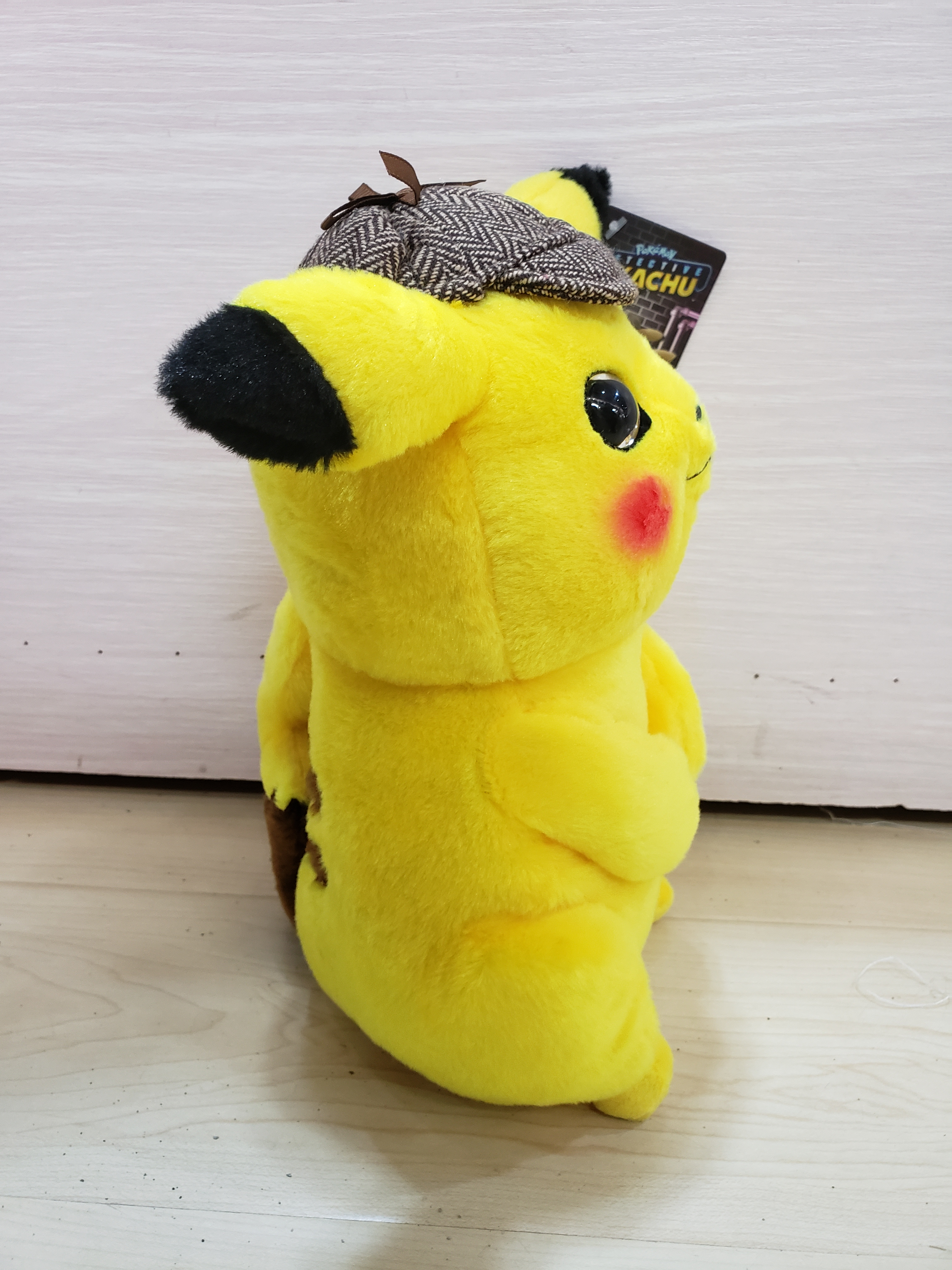 Image 3 - 2019 new 25/30/35cm Detective Pikachu Plush Toy High Quality Cute Anime Plush Toys Childrens Gift Toy Kids Cartoon Peluche-in Stuffed & Plush Animals from Toys & Hobbies