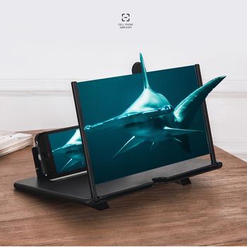 Uniwersalny 12 Cal przenośny ekran telefonu komórkowego lupa 3D wideo ochrona oczu składany ekran wzmacniacz Expander tanie i dobre opinie Ruihoge Stojący Styl Magnifying Glass Brak Szkło