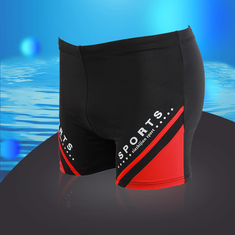 2018 Summer New Style Men's Swimming Trunks Boxer Chinlon Fashion MEN'S Swimming Trunks Men's Swimwear Sexy Printed Swimming Tru