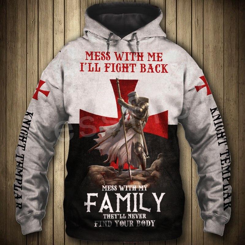 Tessffel Knight Templar Armor Streetwear Harajuku Pullover NewFashion Funny 3DPrint Zip/Hoodies/Sweatshirts/Jacket/Men/Women A-6