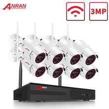 ANRAN 8 Channel 1080P HDMI WiFi NVR Kit 8PCS 2MP Full HD 36IR Leds Outdoor Weatherproof CCTV Camera System Wireless IP Camera