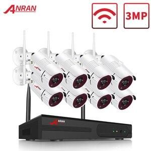 Image 1 - ANRAN 8 Channel 1080P HDMI WiFi NVR Kit 8PCS 2MP Full HD 36IR Leds Outdoor Weatherproof CCTV Camera System Wireless IP Camera