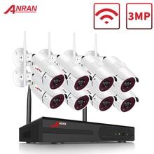 ANRAN 8 kanal 1080P HDMI WiFi NVR kiti 8 adet 2MP Full HD 36IR Leds açık hava güvenlik kamerası sistemi kablosuz IP kamera