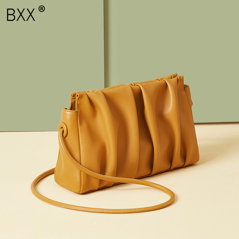 [BXX] Genuine Leather Crossbody Bags For Women 2020 Spring Fashion Shoulder Messenger Bag Lady Travel Purses And Handbags HK582
